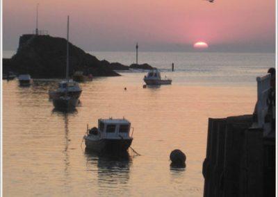 Sunset on Summerleaze Beech